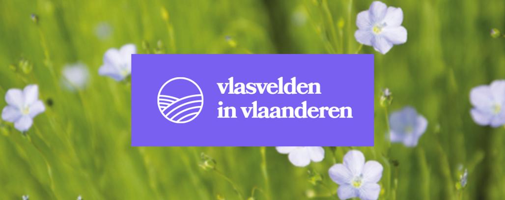 Campagnebeeld Vlasvelden in Vlaanderen