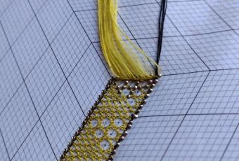 Kantklosworkshop stropkant in Texture